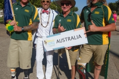 Team Australia with ISA President Fernando Aguerre. Photo: ISA / Reynolds