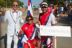 Team Costa Rica with ISA President Fernando Aguerre. Photo: ISA / Reynolds