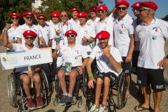 Team France with ISA President Fernando Aguerre. Photo: ISA / Reynolds