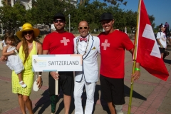 Team Switzerland with ISA President Fernando Aguerre. Photo: ISA / Reynolds