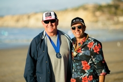 USA Coach Greg Cruse and ISA President Fernando Aguerre. PHOTO: ISA / Chris Grant