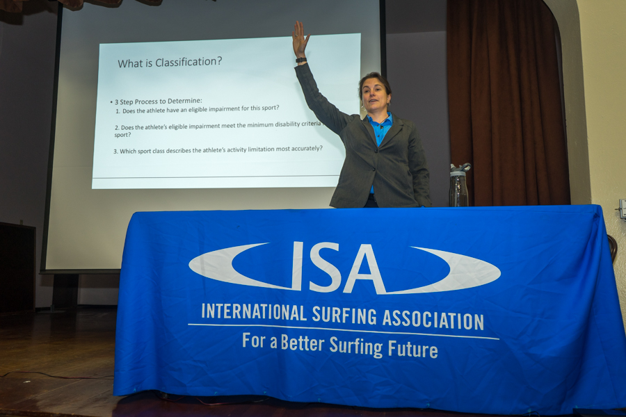 Dr. Jessica Tidwell shares her expertise in the field of Paralympic classification. Photo: ISA / Evans