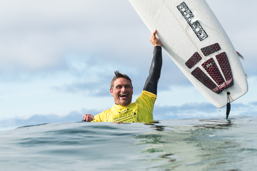 South Africa's Antony Smyth soaks in the moment as he earns a Gold Medal for Team South Africa. Photo: ISA / Chris Grant