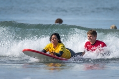 Stance ISA Adaptive Surfing Clinic presented by Challenged Athletes Foundation. PHOTO: ISA / Sean Evans