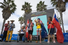 Women As2 Podium. PHOTO: ISA / Sean Evans