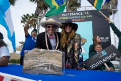 ISA President Fernando Aguerre with and Wife Florencia Gomez Gerbi. PHOTO: ISA / Sean Evans
