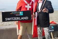 Team Switzerland with ISA President Fernando Aguerre. PHOTO: ISA / Sean Evans