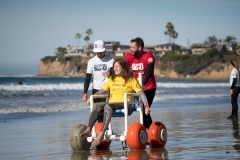 ISA Adaptive Surf Clinic presented by CAF Junior Seau Foundation Adaptive Surf Program. PHOTO: ISA / Sean Evans