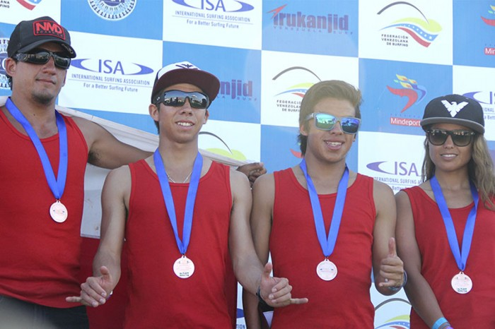 Team Chile placed third at the 2013 ISA World Bodyboard Championship in Venezuela, and will be looking to take the Gold in their home turf. Photo: ISA/K. Ortega