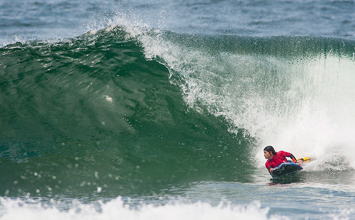 Venezuela's Yuleiner Gonzalez was one of the standouts in Open Women's, earning a spot in Round 2 of the Main Event, and one step closer to the Final. Photo: ISA/Rommel Gonzales