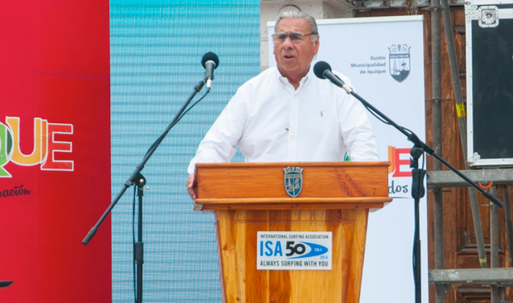 The Mayor of Iquique, Jorge Soria. Photo: ISA/Rommel Gonzales