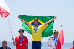 CHI - Alan Munoz, BRA - Eder Luciano and PER - Miguel Rodriguez Medals. PHOTO: ISA / Pablo Jimenez