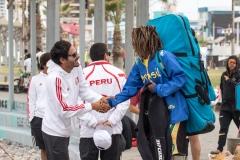 PER - Cesar Bauer and BRA - Daniel Alves. PHOTO: ISA / Pablo Jimenez