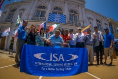 Iquique Mayor Jorge Soria and all the Teams. PHOTO: ISA / Sean Evans