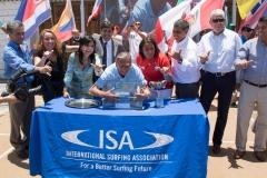 Mayor Jorge Soria & Authorities. PHOTO: ISA / Pablo Jimenez