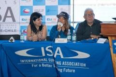 Danisa Astudillo, Ayaka Suzuki and Pedro Cisternos. Photo: ISA/ Jimenez