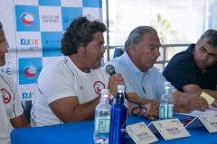 Iquique Mayor Jorge Soria and Alex Castillo. Photo: ISA/ Jimenez