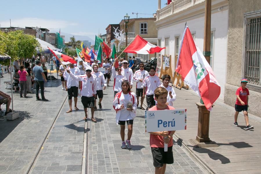 Todas las 14 Delegaciones desfilaron en las bellas calles de Iquique en camino a la Ceremonia de Apertura. Foto: ISA/Pablo Jimenez