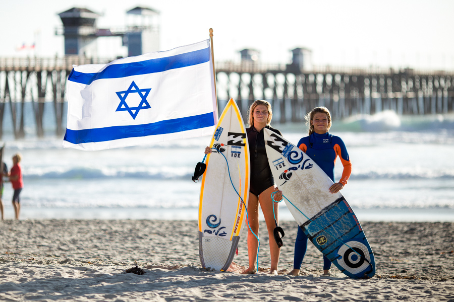 Anat and Noa Lelior, sisters representing Israel, advancing through the U16 Repechage Round, keeping their Gold Medal hopes alive. Photo: ISA/Chris Grant