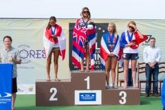 Girls U-18: Gold: Brisa Hennessy - HAW Silver: Vahine Fierro- TAH Bronze: Leilani McGonagle - CRC Copper: Juliette Brice - FRA . PHOTO: ISA / Rezendes