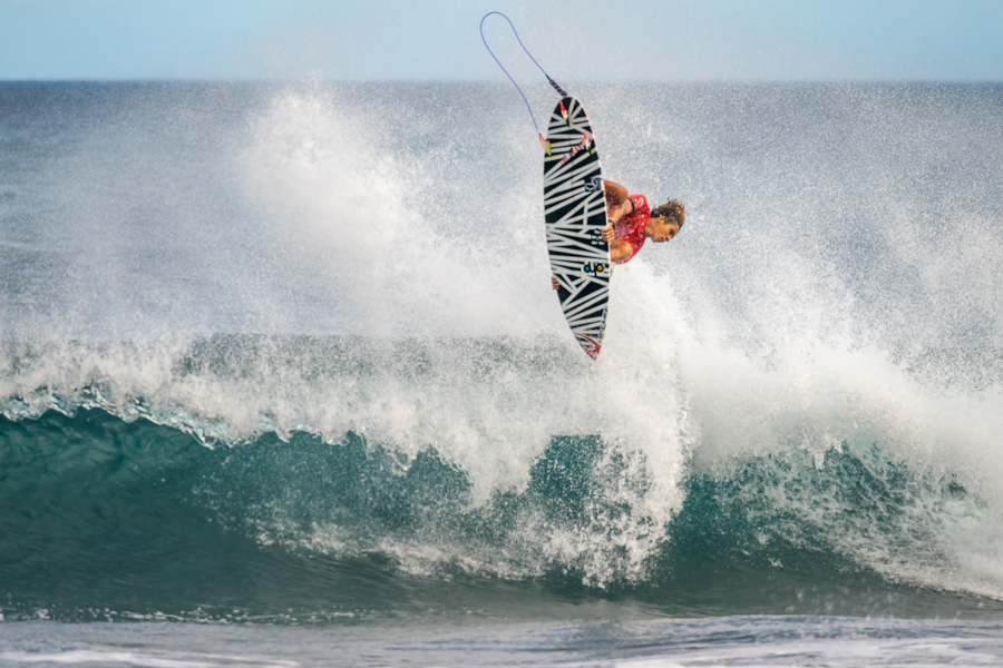 Brazil's Samuel Pupo launches an air in Round 4, but came up short due to an interference call. Photo: ISA / Sean Evans