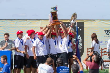 Team France Wins Historic Gold Medal at  2016 VISSLA ISA World Junior Surfing Championship