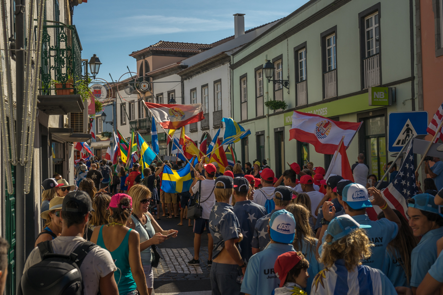 The Parade of Nations winds through the streets of Ribeira Grande, Azores. Photo: ISA / Sean Evans