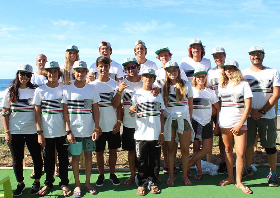 Finishing sixth place at the 2015 VISSLA ISA World Junior Surfing Championship, the host Team Portugal has their sights set on a Team Medal in 2016. Photo: ISA