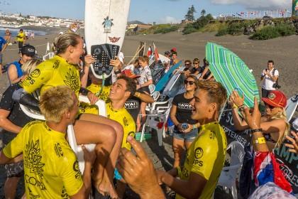 El Equipo de Francia en Posición para Hacer Historia en el Día Final del VISSLA ISA World Junior Surfing Championship 2016