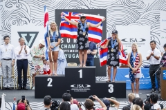 Girls U18 Podium. PHOTO: ISA / Ben Reed