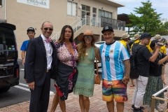 ISA President Fernando Aguerre & wife with Flavio Cianciarulo and Family. PHOTO: ISA / Evans