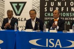 NSA & Katsumi Tateyama, The Mayor of Hyuga, Kouhei Toya and ISA President Fernando Aguerre. PHOTO: ISA / Evans