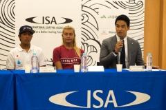 JAP Yuji Nishi,  CRC - Leilani Mcgonagle, Takeshi Matsuda . PHOTO: ISA / Evans
