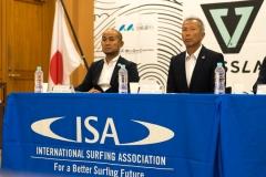 Nippon Surfing Association Kimifumi Imoto & Katsumi Tateyama. PHOTO: ISA / Evans