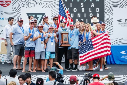 Team USA Returns to Top of the World; Clinches Second Team Title in History of VISSLA ISA World Junior Surfing Championship