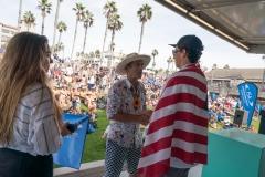 USA - Cole Houshmand and ISA President Fernando Aguerre. PHOTO: ISA / Sean Evans
