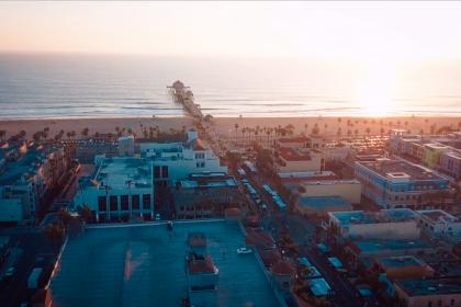 Bienvenidos a Huntington Beach, USA