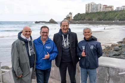 President of French National Olympic and Sports Committee Denis Masseglia visits Biarritz