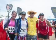 (CRI) Jenny Kalmback, Shakira Westdorp, ISA President Fernando Aguerre, (CAN) Lina Augaitis / Photo: Isa Rommel Gonzales