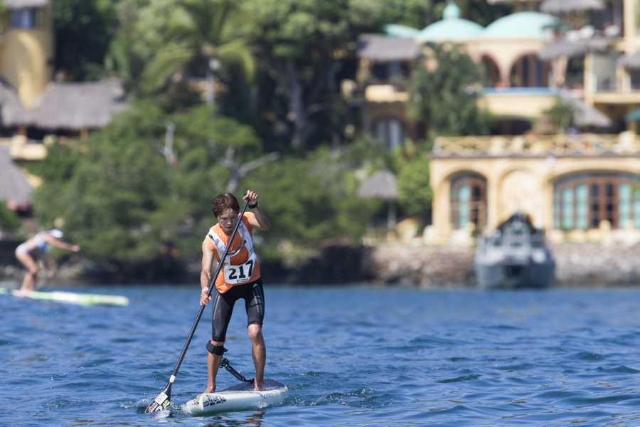 Takayo Yokohama from Team Japan is competing in as many disciplines as possible at the 2015 ISA World StandUp Paddle and Paddleboard Championship, and she is doing it in stride. Photo: ISA/Brian Bielmann