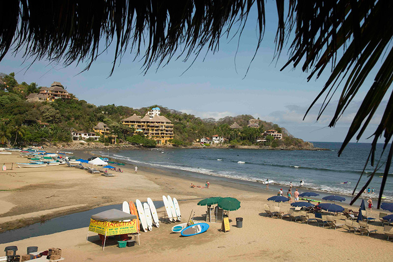 The view of Sayulita Don Pedro's Restaurant, where the press conference was held. Photo: Brian Bielmann