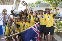 Winner of the Gold Medal Team Australia.  PHOTO: ISA / Ben Reed