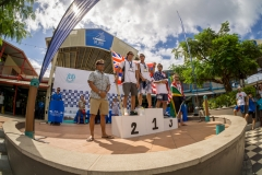 SUP Surfing Men Finalists. PHOTO: ISA / Sean Evans