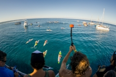 SUP Distance Race Start. PHOTO: ISA / Sean Evans