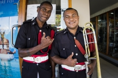 fiji Police Band. PHOTO: ISA / Ben Reed