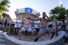 Haka, Team New Zealand.  PHOTO: ISA / Ben Reed