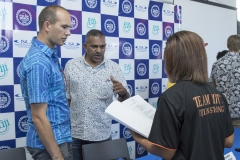 Tourism Fiji CEO Matthew Stoeckel and Honorable Faiyaz Koya Minister for Industry Trade and Tourism . PHOTO: ISA / Ben Reed