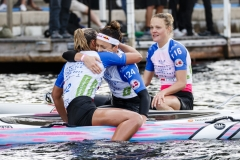 AUS - Jordan Mercer - DEN - Kathrine Zinck Leth-Espensen - NZL - Jessica Miller. PHOTO: ISA / Ben Reed