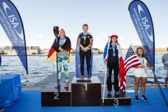 Women's SUP Distance Race Winner. PHOTO: ISA / Ben Reed