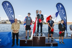 Men's SUP Distance Race Winners. PHOTO: ISA / Ben Reed